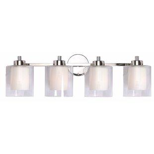 Reviews Brook Farm 4-Light Vanity Light ByRed Barrel Studio