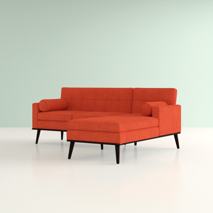 Catalina Right Hand Facing Venus Mid Century Modern Modular Sectional Sofa