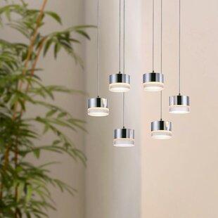Barnsdall 6-Light LED Cluster Pendant by Orren Ellis