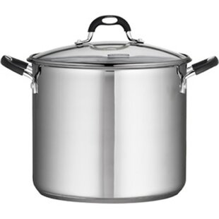 Heuck 12 -qt. Encapsulated Stockpot with Class Lid