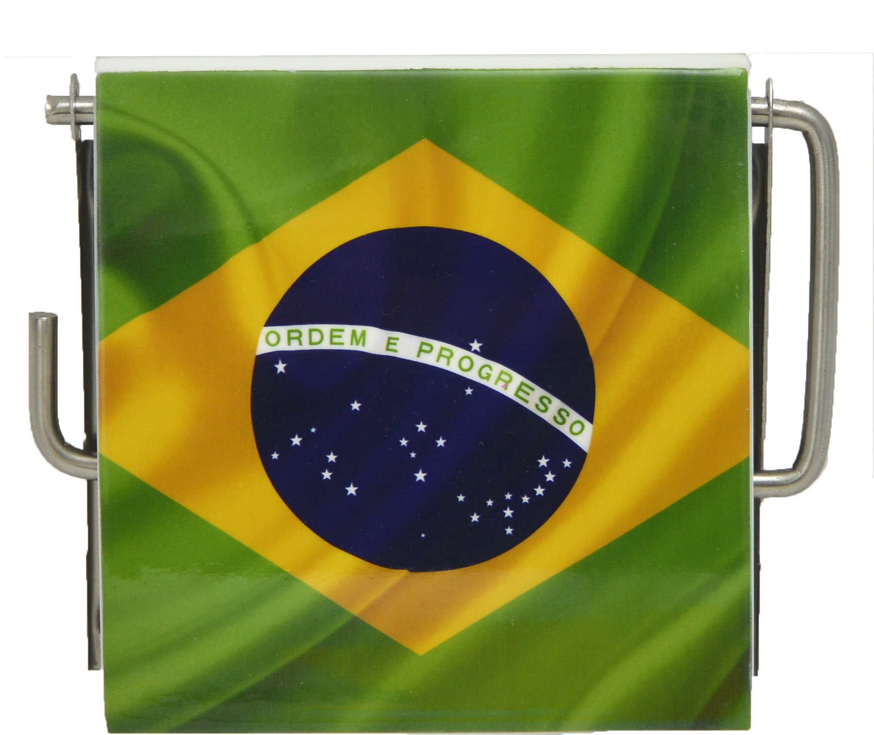 Evideco Brazil Flag Wall Mounted Printed Toilet Tissue Roll Holder ...