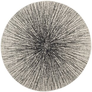 Faustina Cotton Black/Ivory Area Rug by Wrought Studio