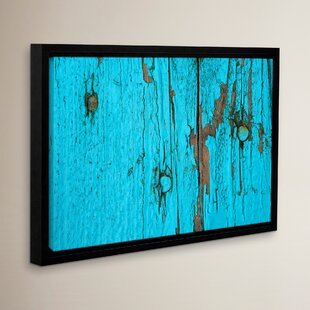 Turquoise Paint Framed Photographic Print