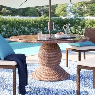 Waterbury Glass Dining Table by Sol 72 Outdoor