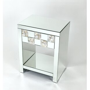 Tryston Beveled Mirror Nightstand by House of Hampton