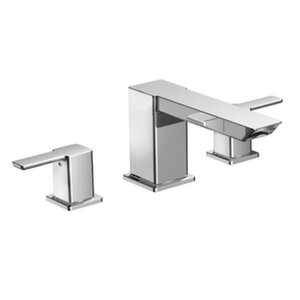 90 Degree Double Handle High Arc Roman Tub Faucet
