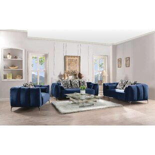 Fruithurst 3 Piece Living Room Set by Everly Quinn