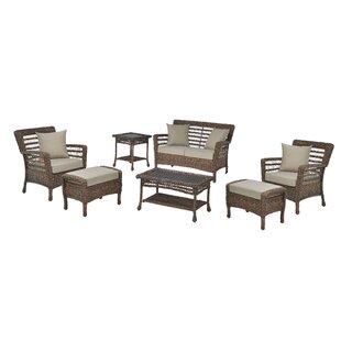 Vern Danial Modern 7 Piece Rattan Sofa Seating Group With Cushions By Bay Isle Home
