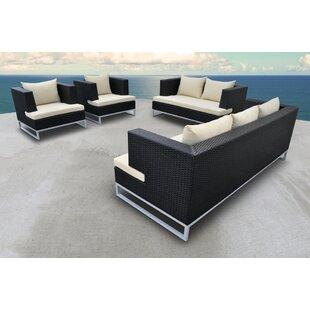Solis Patio Braccio 4 Piece Rattan Sofa Set with Cushions