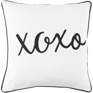 Carnell Hugs and Kisses Cotton Throw Pillow Cover