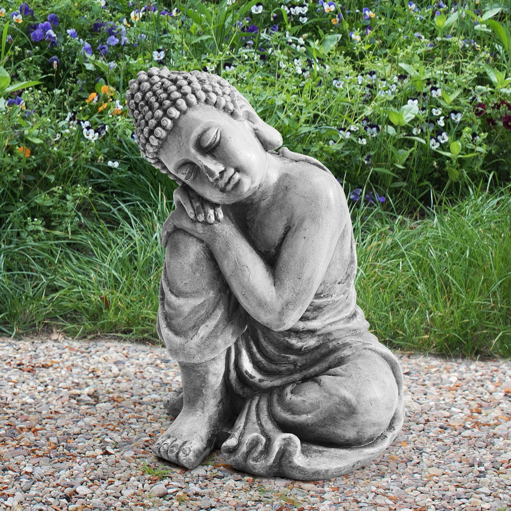 Bloomsbury Market Walland Market Clay Buddha Garden Decor Statue Reviews Wayfair