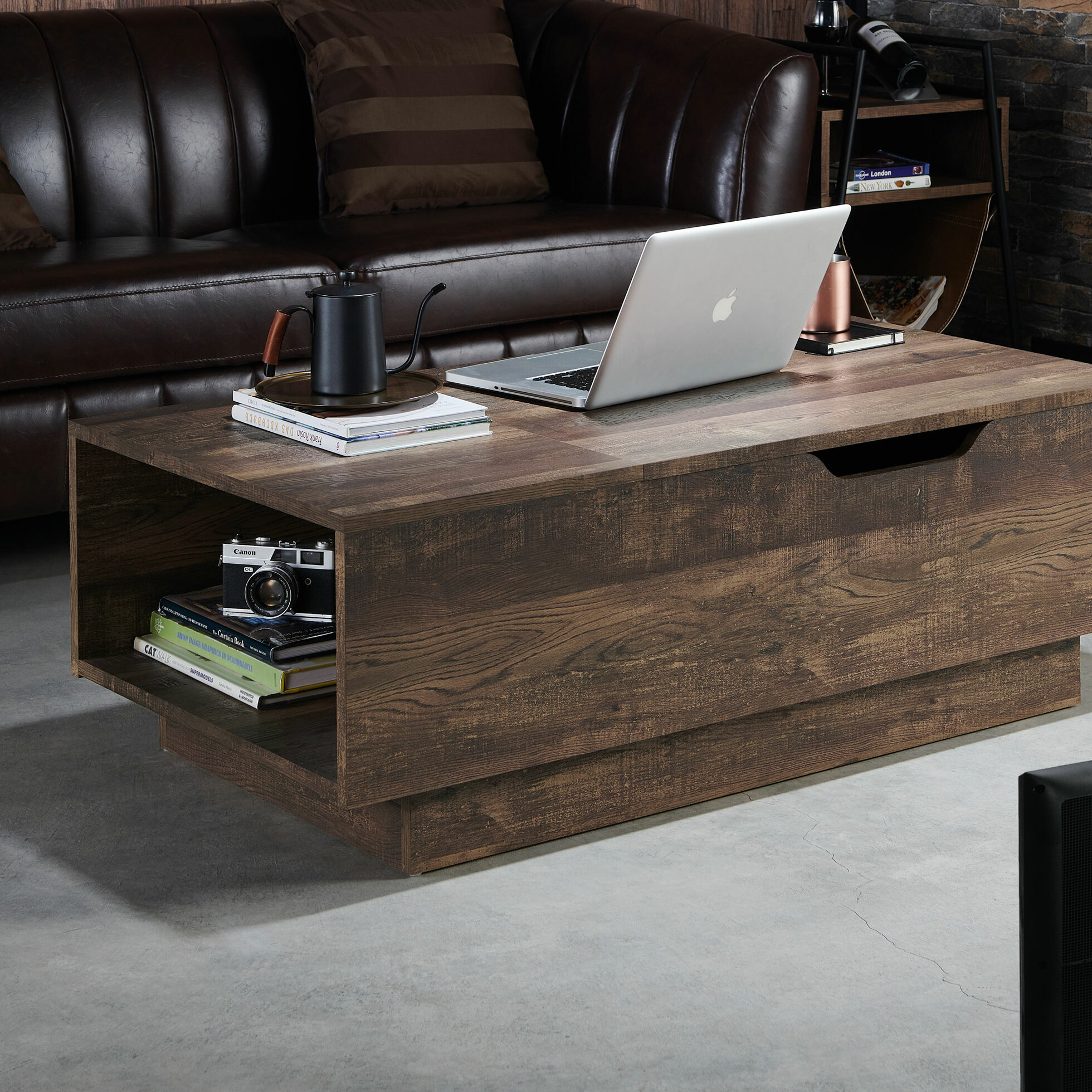 Lift Top Coffee Table Rustic 10
