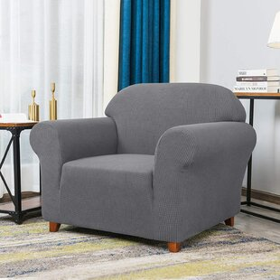 Stretch  Box Cushion Armchair Slipcover By 17 Stories