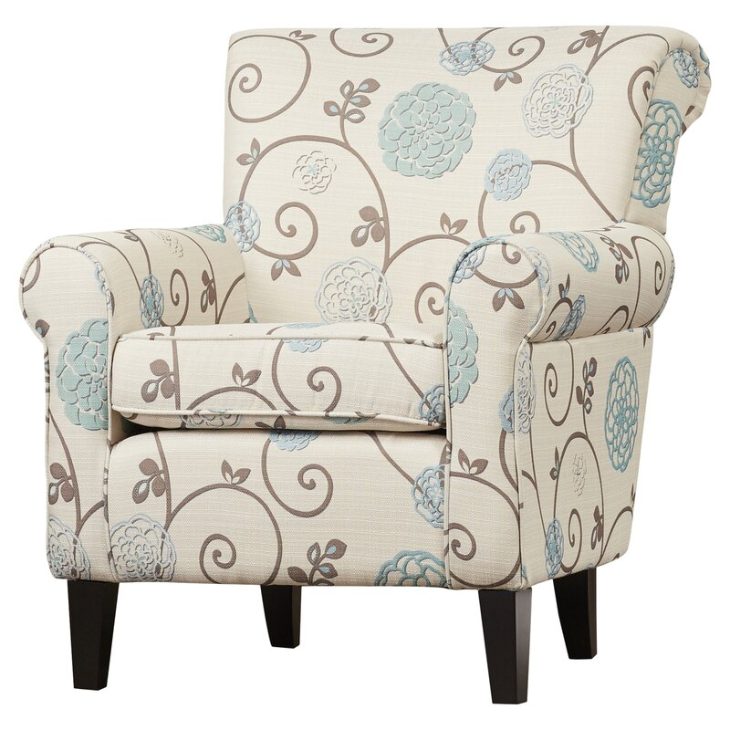Superb Wadham Flowered Armchair