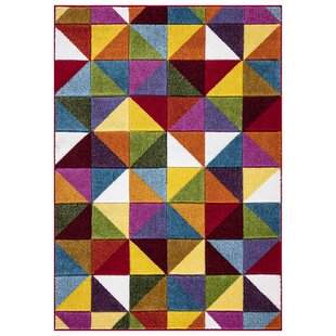 Dimond Geometric Tufted Red/Blue/Green Indoor Rug By Corrigan Studio