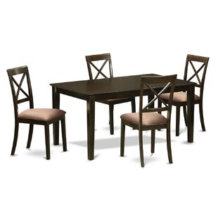 Smyrna Microfiber Upholstery 5 Piece Dining Set by Charlton Home 2019 Coupon