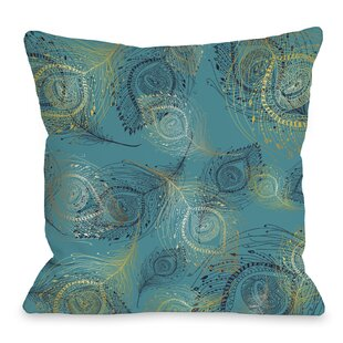 Amalia Peacock Throw Pillow by One Bella Casa Spacial Price