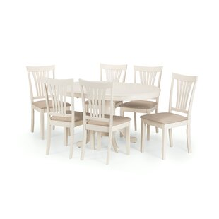 Bazile Extendable Dining Set With 6 Chairs By Brambly Cottage