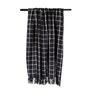 Poarch Checked Plaid Cotton Throw