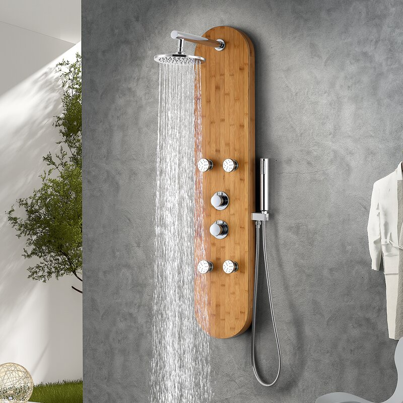 Anzzi Crane Series 52 Shower Panel With Adjustable Shower Head Reviews Wayfair