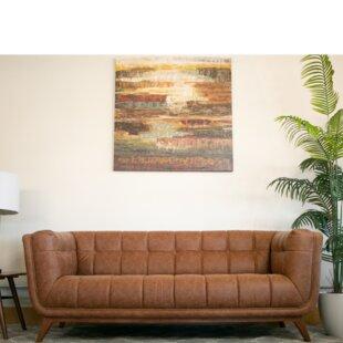 Caryn Vintage Leather Sofa by Corrigan Studio