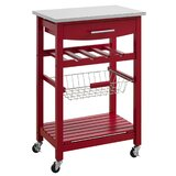 Cogburn Kitchen Island with Stainless Steel Top by Breakwater Bay