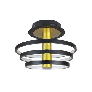 Tillis 3-Light LED Integrated Semi Flush Mount by Orren Ellis