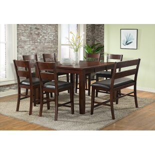 Viola Heights Counter Height Extendable Dining Table