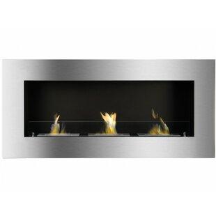 McTeer Wall Mounted Ethanol Fireplace By Orren Ellis