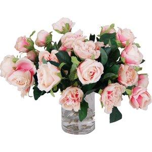 Rose Centerpiece in Decorative Vase