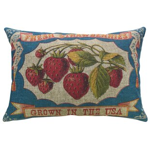 Fender Strawberries Linen Throw Pillow