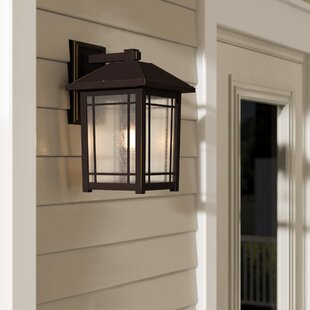 Reviews Beams 1-Light Glass Outdoor Wall Lantern By Darby Home Co