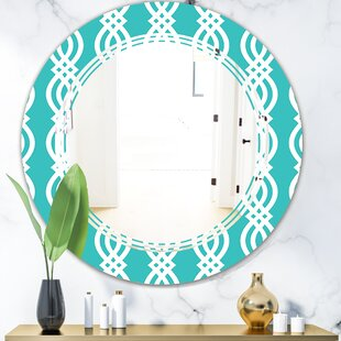 Pattern Abstract Design VII Triple C Eclectic Frameless Wall Mirror by East Urban Home