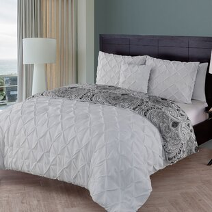 Nunnally 3 Piece Reversible Duvet Cover Set