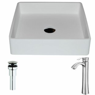 Reviews Passage Stone Square Vessel Bathroom Sink with Faucet By ANZZI