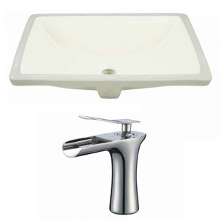 Shop For CUPC Ceramic Rectangular Undermount Bathroom Sink with Faucet and Overflow ByAmerican Imaginations