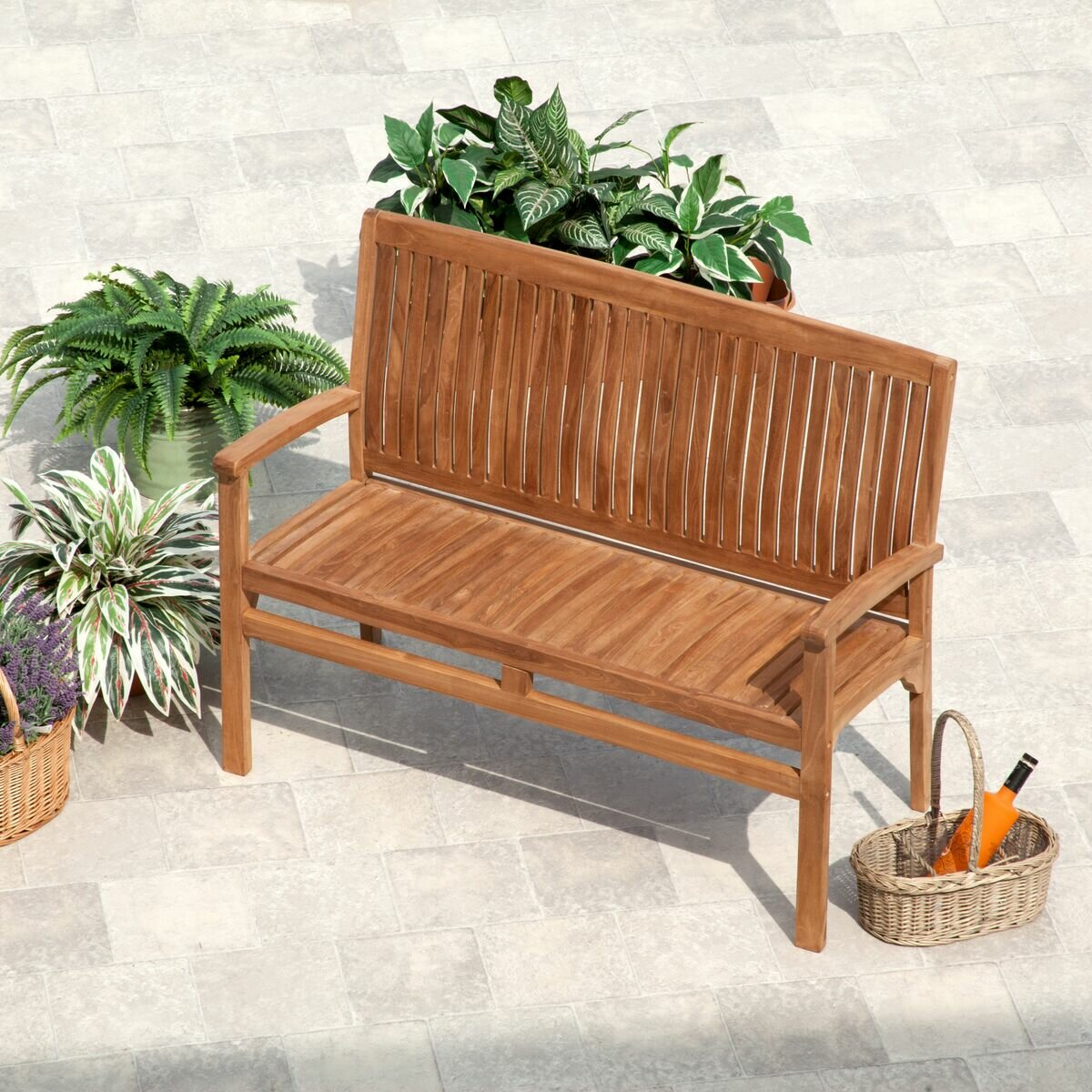 Loon Peak Rohrbach Teak Garden Bench | Wayfair