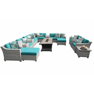 Falmouth 17 Piece Sectional Seating Group with Cushions