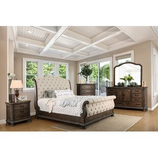 Darvell Upholstered Sleigh Bed
