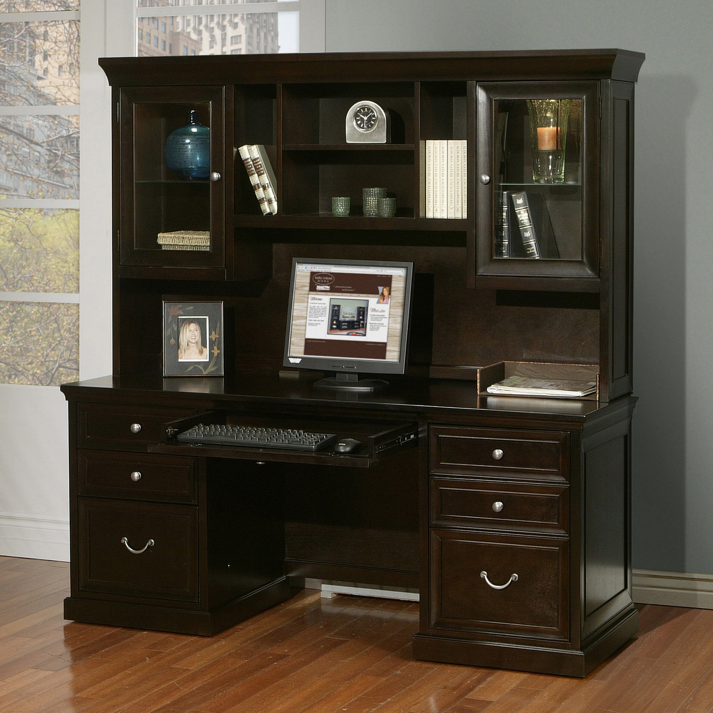 Superbe Darby Home Co Robbie Solid Wood Executive Desk With Hutch U0026 Reviews |  Wayfair