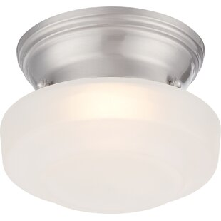 Charlton Home Rutgers 1-Light Flush Mount