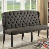 Admirable Tufted High Back Dining Bench Wayfair Caraccident5 Cool Chair Designs And Ideas Caraccident5Info