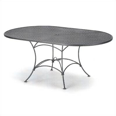 Mesh Top Set Up Oval Wrought Iron Dining Table