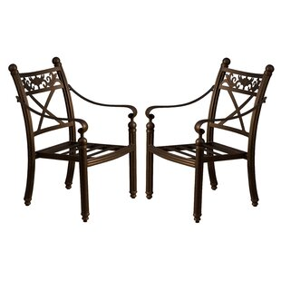 California Outdoor Designs Baldwin Stacking Patio Dining Chair (Set of 2)