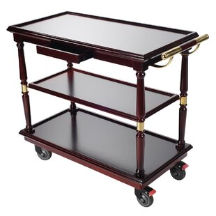 Mobile Wooden Serving Bar Cart