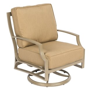 Seal Cove Swivel Patio Chair with Cushions by Woodard