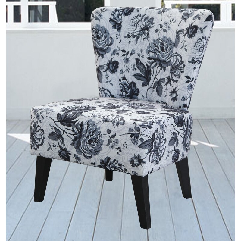 Delicieux Briscoe Grey Flower Slipper Chair