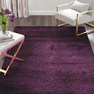 Inexpensive Malina Power Loomed Purple Area Rug By Willa Arlo Interiors