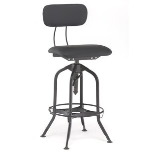 Madson Adjustable Height Swivel Bar Stool Set of 2 by 17 Stories