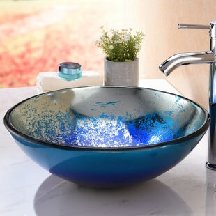 Oceana Glass Circular Vessel Bathroom Sink